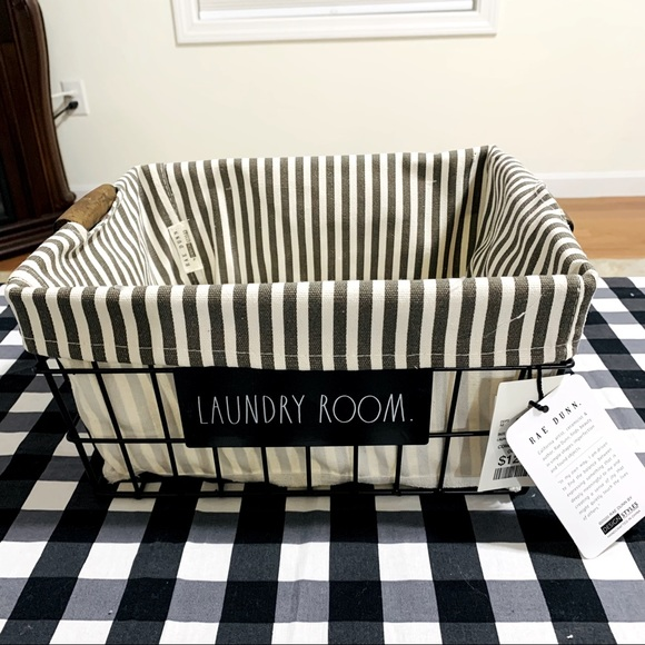 Rae Dunn LAUNDRY ROOM basket